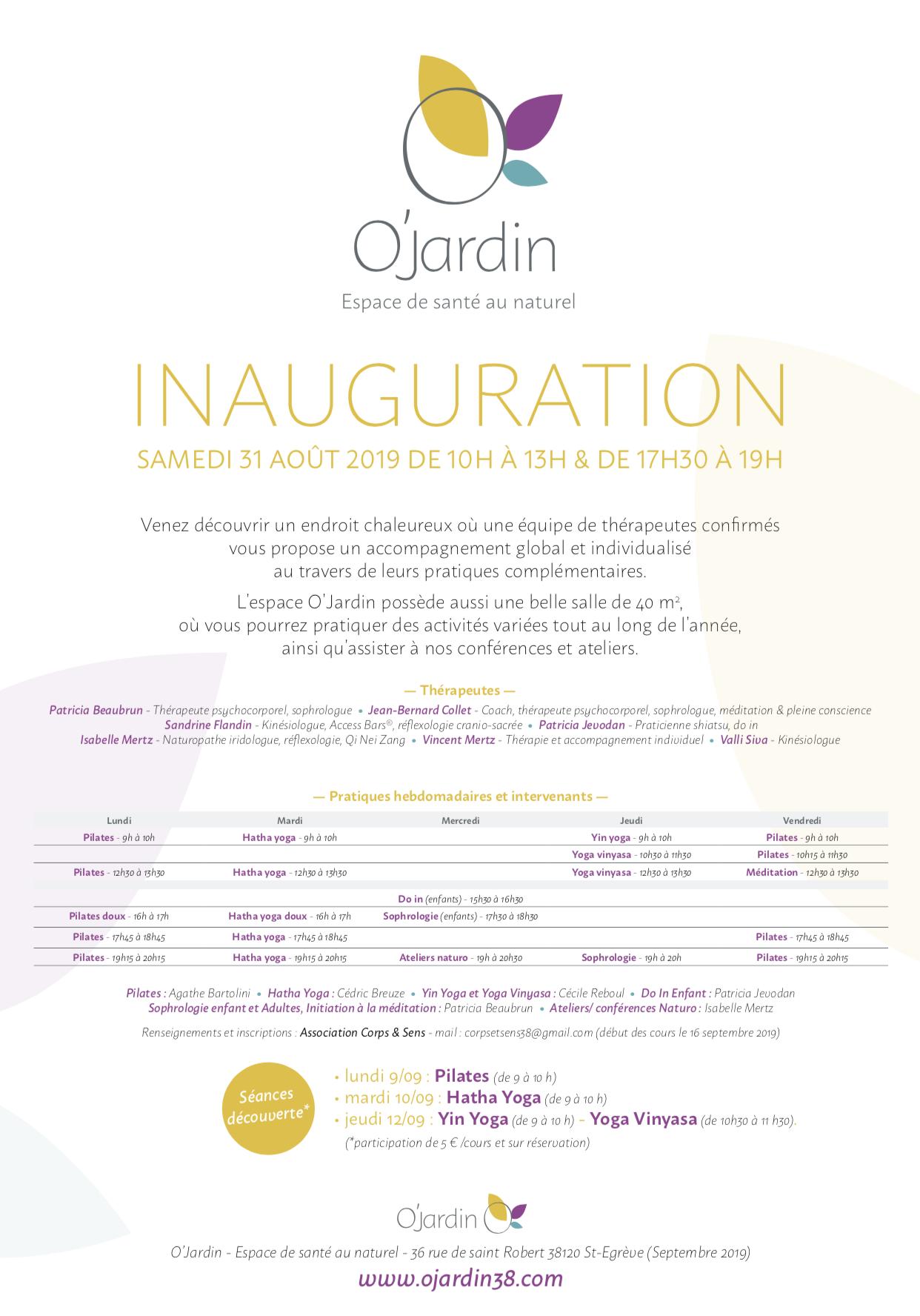 Inauguration O'JARDIN